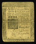 Colonial Notes:Pennsylvania, Pennsylvania July 1, 1757 20s Fine. The face is bit dark but theprint is legible and the inverted back is slightly soiled. ...