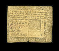 Colonial Notes:Pennsylvania, Pennsylvania May 1, 1760 5s Very Good. This example technicallylooks Fine, but the heavy vertical fold has nearly split. Th...