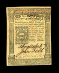 Colonial Notes:Pennsylvania, Pennsylvania October 1, 1773 50s Choice About New. A light bend isnoticed on the back of this bright very well margined iss...