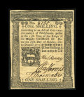 Colonial Notes:Pennsylvania, Pennsylvania October 25, 1775 1s Choice About New. A beautifully crisp example of this popular issue that has just two tiny ...