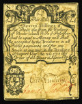 Colonial Notes:Rhode Island, Rhode Island August 22, 1738 7s/6d Very Fine Backed. No example ofany denomination from this incredibly rare issue was offe...