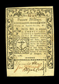 Colonial Notes:Rhode Island, Rhode Island May 1786 20s. Choice About New. This well signed, wellmargined note is a single light centerfold away from the...