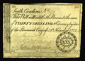 Colonial Notes:South Carolina, South Carolina November 15, 1775 30s Fine. The edges show light handling for a 230 year old note....