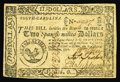 Colonial Notes:South Carolina, South Carolina December 23, 1776 $2 About New. Very well marginedand with razor sharp printing, this signed and issued exa...