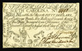 Colonial Notes:South Carolina, South Carolina February 8, 1779 $50 Extremely Fine-About New. Acenter fold and a fold along the top margin affect this exam...