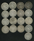 Mexico, Mexico: Seventeen piece lot including:... (Total: 17 coins)