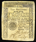 Colonial Notes:Vermont, Vermont February 1781 10s Fine. All Vermont notes are very rare,and most known examples are extremely low grade, many havin...