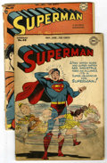 Golden Age (1938-1955):Superhero, Superman #40 and 49 Group (DC, 1946-47) Condition: Average GD.... (Total: 2 Comic Books)