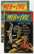 Golden Age (1938-1955):Horror, Web of Evil #10 and 20 Group (Quality, 1954).... (Total: 2 ComicBooks)