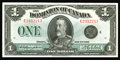 Canadian Currency: , DC-28o $1 1923. This note is quite clean and bright with strongembossing. Choice Crisp Uncirculated....