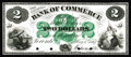 Canadian Currency: , Toronto, ON- Canadian Bank of Commerce $2 May 1, 1867 Charlton75-10-04P Face Proof. This is a handsome green and black proo...