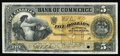 Canadian Currency: , Toronto, ON- Canadian Bank of Commerce $5 Jan. 2, 1901 Charlton75-14-06P Face Proof. A charming vignette is possessed by th...