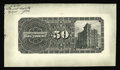 Canadian Currency: , Toronto, ON- Canadian Bank of Commerce $50 (1893 - 1912) Charlton 75-14-44P thru 54P Back Proof. This proof was printed on c...