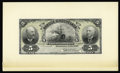 Canadian Currency: , Montreal, PQ- Banque D'Hochelaga 5 Piastres May 2, 1898 Charlton360-18-02Pa Face Proof. This ABNCo, Ottawa proof has been p...