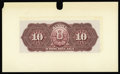 Canadian Currency: , Montreal, PQ- Banque D'Hochelaga 10 Piastres (May 2, 1898) Charlton360-18-06P UNL Back Proof. This proof was mounted on car...