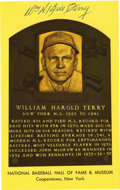 "Autographs:Letters, Bill Terry Signed Hall of Fame Plaque Card. Nicknamed ""MemphisBill"", Terry is remembered as the last National League playe..."