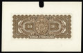 Canadian Currency: , Montreal, PQ- Banque D'Hochelaga $10 (Jan. 2, 1917) Charlton360-24-08P UNL Back Proof. This unlisted proof has been mounted...