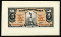 Canadian Currency: , Montreal, PQ- Banque D'Hochelaga $50 Jan. 2, 1920 Charlton360-24-24Pa Face Proof. This is a beautiful orange face prooftha...