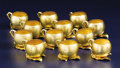 Silver Holloware, American:Cups, A Set of Twelve American Silver Gilt Punch Cups. GorhamManufacturing Co., Providence, Rhode Island. 1886. Silver gilt.Ma... (Total: 12 Items)