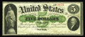 Fr. 1a $5 1861 Demand Note Fine-Very Fine. An absolutely solid, problem-free example of this extremely rare and highly h...