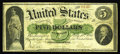 Fr. 2 $5 1861 Demand Note Very Good-Fine. Imagine a note that is perhaps the finest quality VG note available and this i...