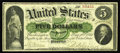 Large Size:Demand Notes, Fr. 3 $5 1861 Demand Note Fine. A solid Boston Demand Note, withstrong hand signatures, excellent color and a scattering of...