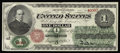 Large Size:Legal Tender Notes, Fr. 16 $1 1862 Legal Tender New. A beautifully centered note that has the margins and colors of a Gem. It also has one tiny ...