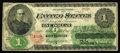 Large Size:Legal Tender Notes, Fr. 17a $1 1862 Legal Tender Very Good. This is the second time wehave sold this extremely rare note. It was in our Septemb...