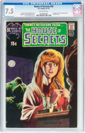 Bronze Age (1970-1979):Horror, House of Secrets #92 (DC, 1971) CGC VF- 7.5 Off-white pages....