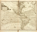 Books:Maps & Atlases, [Maps]. Emanuel Bowen. A New and Accurate Map of America....Exhibiting the Course of the Trade Winds both in theAtlant...