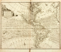 [Maps]. Emanuel Bowen. A New and Accurate Map of America. ...Exhibiting the Course of the Trade Winds both in t