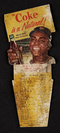 Baseball Cards:Singles (1950-1959), Very Rare 1952 Coke Playing Tips Test Card Willie Mays! ...