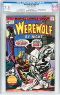Bronze Age (1970-1979):Horror, Werewolf by Night #32 (Marvel, 1975) CGC VF- 7.5 Off-white to whitepages....