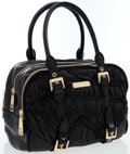 Luxury Accessories:Bags, Burberry Black Leather Moselle Bowling Bag with Gold Hardware . ...