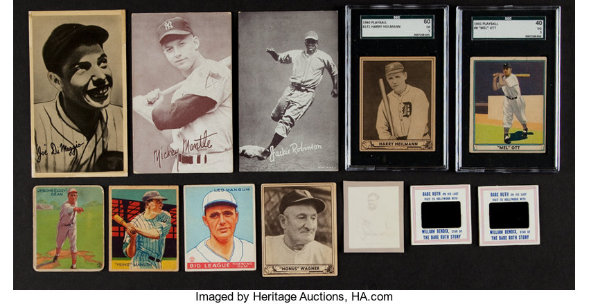1930s 1960s Baseball Card Collection 40 Packed With