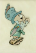Animation Art:Production Cel, Pinocchio Jiminy Cricket Production Cel (Walt Disney,1940)....