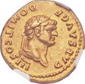 Ancients:Roman Imperial, Ancients: Domitian, as Caesar (AD 69-81). AV aureus (20mm, 7.40 gm, 12h). ...