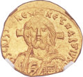 Ancients:Byzantine, Ancients: Justinian II, first reign (AD 685-695). AV solidus (20mm, 4.43 gm, 7h).  ...