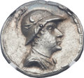 Ancients:Greek, Ancients: GRECO-BACTRIAN KINGDOM. Eucratides I the Great (ca.170-145 BC). AR tetradrachm (32mm, 16.99 gm, 12h)....