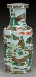 Asian:Chinese, A CHINESE FAMILLE VERTE PORCELAIN VASE, 20th century. 13-3/4 incheshigh (34.9 cm). ...