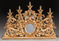 Decorative Arts, Continental:Lamps & Lighting, A PAIR OF ROCOCO-STYLE GILT WOOD, METAL AND MIRRORED FIVE-LIGHTCANDELABRA, circa 1890. 13-3/4 x 27-1/4 x 5 inches (34.9 x 6...(Total: 2 Items)