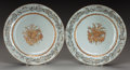 Asian:Chinese, A PAIR OF CHINESE EXPORT PORCELAIN CHARGERS. 14 inches diameter(35.6 cm). ... (Total: 2 Items)