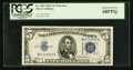 Small Size:Silver Certificates, Fr. 1653 $5 1934C Wide Silver Certificate. PCGS Superb Gem New 68PPQ.. ...