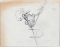 Animation Art:Production Drawing, Mother Goose Goes Hollywood Katherine Hepburn AnimationDrawing (Walt Disney, 1938)....