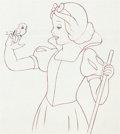 Animation Art:Production Drawing, Snow White and Seven Dwarfs Snow White Animation Drawing(Walt Disney, 1937)....