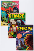 Golden Age (1938-1955):Horror, Beware #5, 7, and 10 Group (Trojan/Prime, 1953-54).... (Total: 3Comic Books)