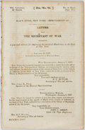 Books:Americana & American History, New York: BLACK RIVER, NEW YORK- IMPROVEMENT OF. 24th Cong., 2dSess. HD74.: 1837. 6pp, disbound, large folding map. Light f...