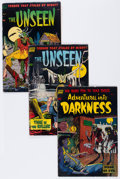 Golden Age (1938-1955):Horror, The Unseen/Adventures Into Darkness Group (Standard, 1952-53)Condition: Average VG-.... (Total: 4 Comic Books)