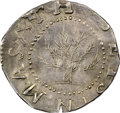 Colonials, 1652 SHILNG Oak Tree Shilling, IN at Bottom, MS62 NGC. CAC. Noe-7, W-480, Salmon 5-D, R.5....