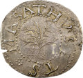1652 6PENCE Oak Tree Sixpence, IN on Reverse, MS64 NGC. CAC. Noe-16, W-360, Salmon 1-A, R.5. ...(PCGS# 45359)